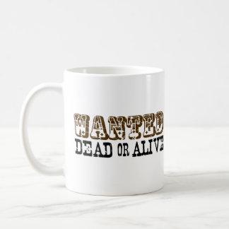 Muertos o vivo queridos taza de café