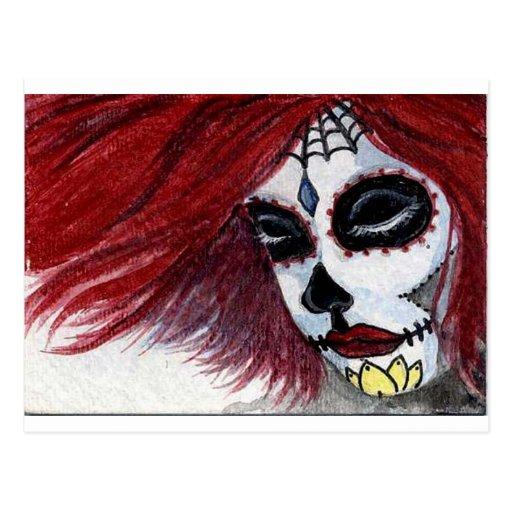 Muertos Red Postcard