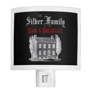 Muertos y desayuno de la familia lámpara de noche