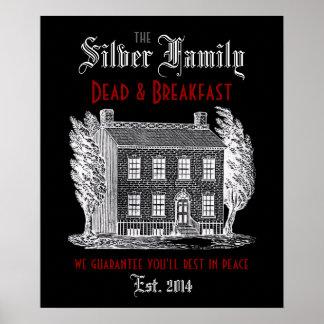 Muertos y desayuno de la familia póster