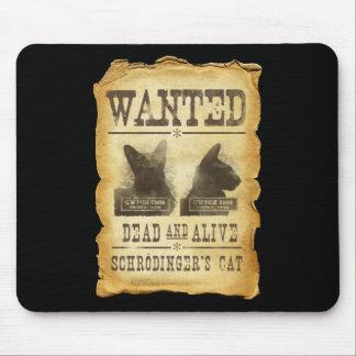 Muertos y vivo queridos.  El gato de Schroedinger Tapete De Ratón