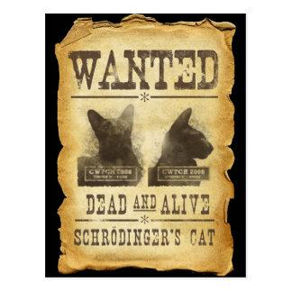 Muertos y vivo queridos El gato de Schroedinger Postal