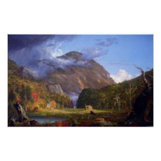Muesca del Mountans blanco por el col de Thomas Posters