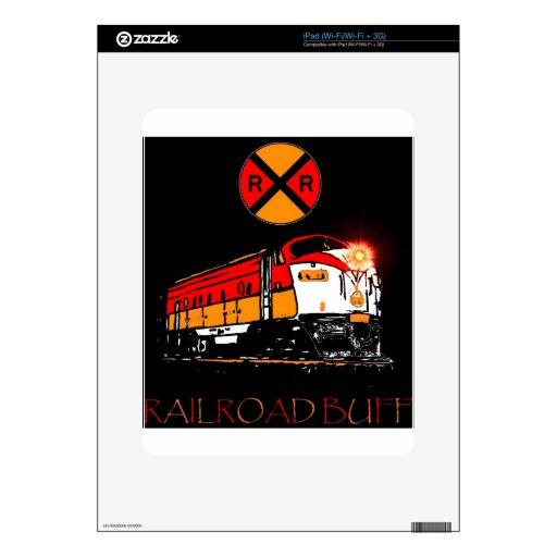 Muestra a juego de la locomotora y del ferrocarril calcomanías para el iPad