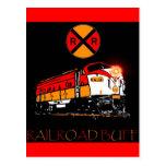 Muestra a juego de la locomotora y del ferrocarril postal