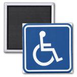 Muestra accesible perjudicada de la silla de rueda iman de nevera
