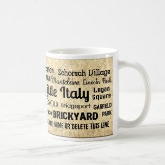 Muestra adaptable del subterráneo de las taza de café