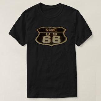 Muestra adaptable del vintage de la ruta 66 camisas