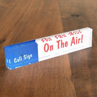 Muestra aficionada de la llamada por radio en el