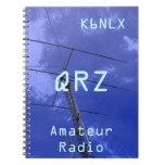 Muestra aficionada QRZ de la llamada por radio Libro De Apuntes Con Espiral