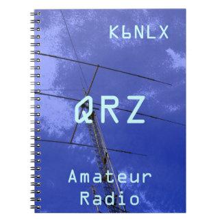 Muestra aficionada QRZ de la llamada por radio Libretas Espirales