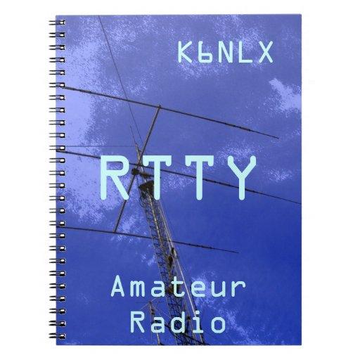 Muestra aficionada RTTY de la llamada por radio Libreta Espiral