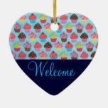 Muestra agradable de la puerta de la magdalena adorno de cerámica en forma de corazón