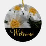 Muestra agradable floral de la puerta ornamentos de reyes magos