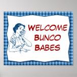 Muestra agradable retra de los bebés de Bunco Posters