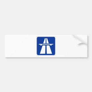 Muestra alemana del Autobahn Pegatina Para Auto