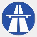 Muestra alemana del Autobahn Pegatina Redonda