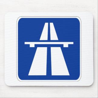Muestra alemana del Autobahn Tapetes De Ratones