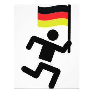 muestra alemana del corredor tarjetas informativas