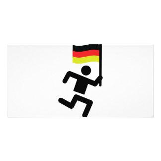 muestra alemana del corredor tarjeta fotográfica