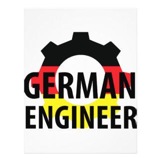 muestra alemana del ingeniero tarjetón