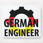 muestra alemana del ingeniero tapete de ratones