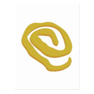 Muestra amarilla postal