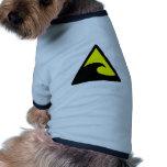 Muestra amonestadora de la onda del tsunami ropa para mascota
