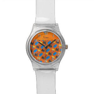 Muestra anaranjada conocida de la acción del reloj de mano
