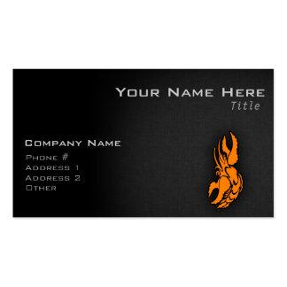 Muestra anaranjada del cáncer del zodiaco tarjetas de negocios