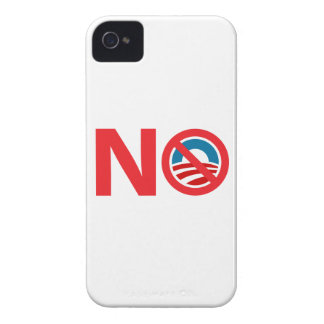 Muestra anti de NObama Obama iPhone 4 Cárcasa