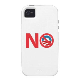 Muestra anti de NObama Obama iPhone 4 Carcasa