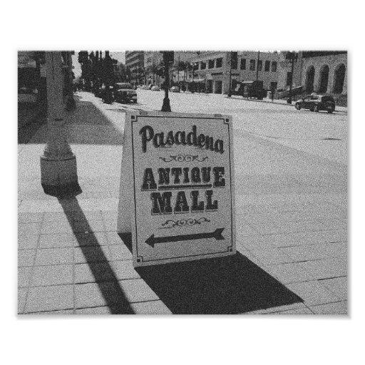 Muestra antigua de la alameda de Pasadena Impresiones Fotograficas