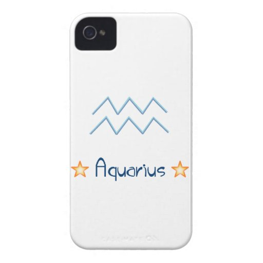 Muestra Aqaurius del horóscopo Case-Mate iPhone 4 Protector
