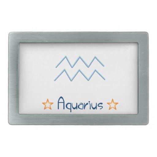 Muestra Aqaurius del horóscopo Hebilla Cinturón