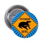 Muestra australiana del diablo tasmano chapa redonda 5 cm