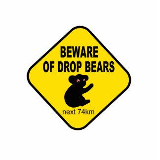 Muestra australiana divertida. Guárdese de osos de Fotoescultura Vertical