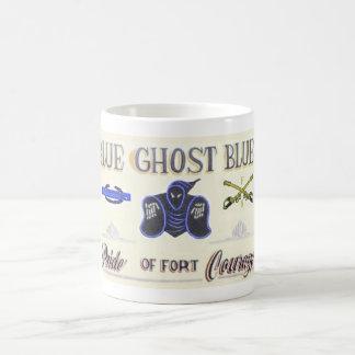 Muestra azul de los azules del fantasma taza