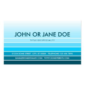 muestra azul tarjetas de visita