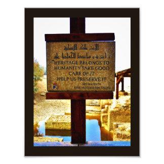 Muestra bautismal del sitio cojinete