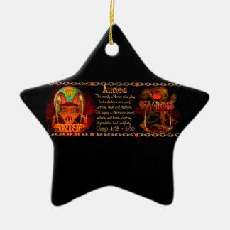 Muestra cambio de signo 2 del zodiaco del tauro de adorno de navidad