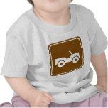 muestra campo a través de la carretera del rastro camisetas