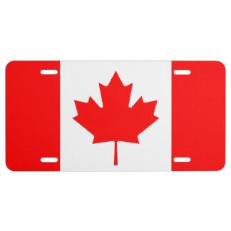 Muestra canadiense de la placa del coche de la placa de matrícula