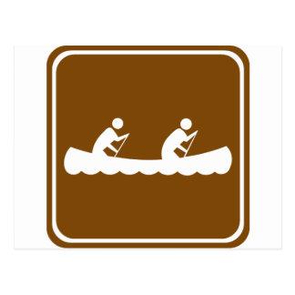 Muestra Canoeing de la carretera Postal