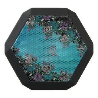 Muestra céltica Leo del zodiaco del fractal Altavoces Bluetooth Negros Boombot REX