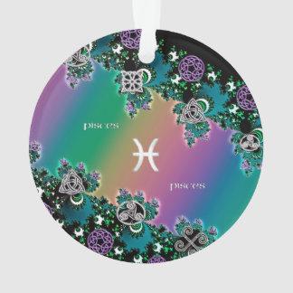 Muestra céltica Piscis del zodiaco del fractal del