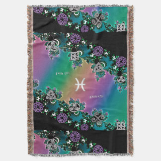 Muestra céltica Piscis del zodiaco del fractal del Manta