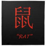 """Muestra china de la astrología de la """"rata"""" servilleta de papel"""
