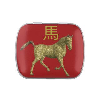 Muestra china del zodiaco: Caballo Jarrones De Dulces