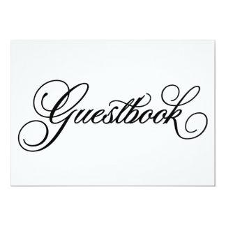 """Muestra clásica del boda del Guestbook del   Invitación 5"""" X 7"""""""